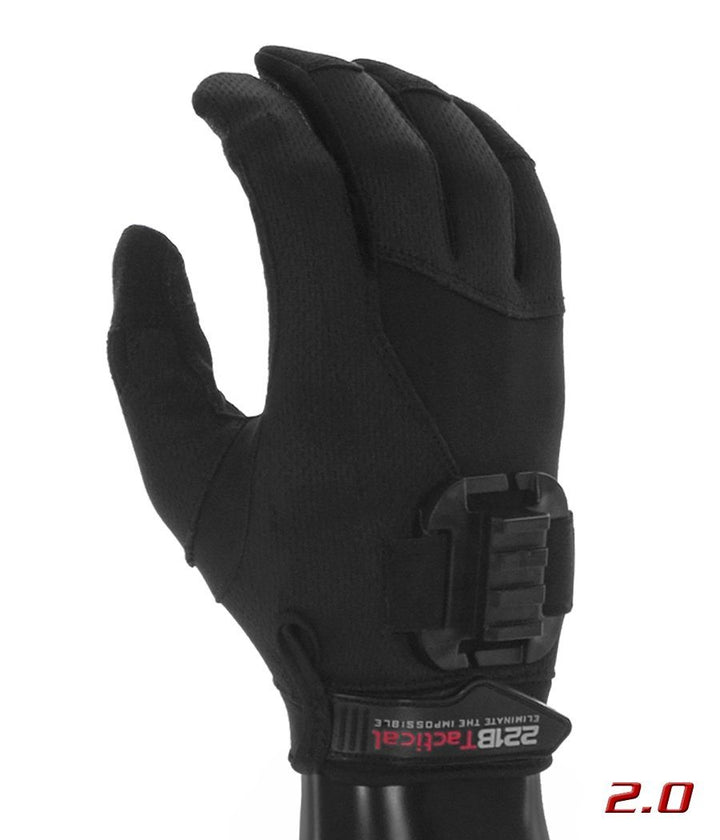 Exxtremity Patrol Gloves 2.0 with Rail Clip (No Light) Gloves 221B Tactical Black XS
