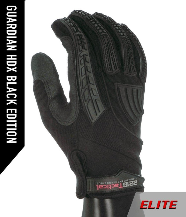 Guardian Gloves HDX ELITE - Level 5 Cut Resistant & Fluid Resistant Gloves 221B Resources LLC XS Black Edition