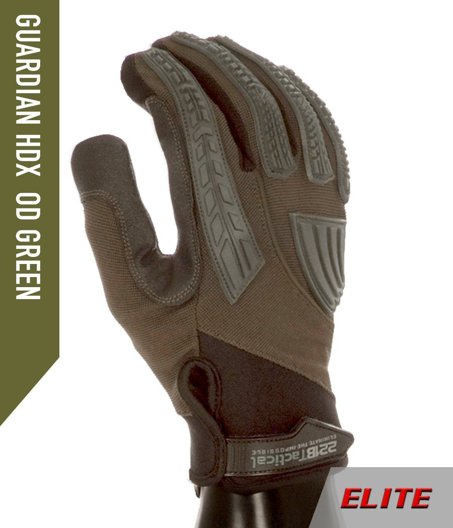 Guardian Gloves HDX ELITE - Level 5 Cut Resistant & Fluid Resistant Gloves 221B Resources LLC XS OD Green