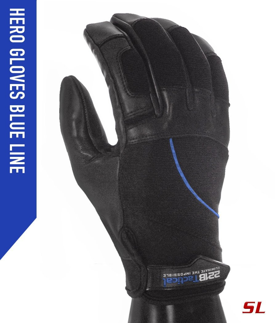 Hero Gloves SL - Needle Resistant Gloves 221B Tactical XS Blue-line
