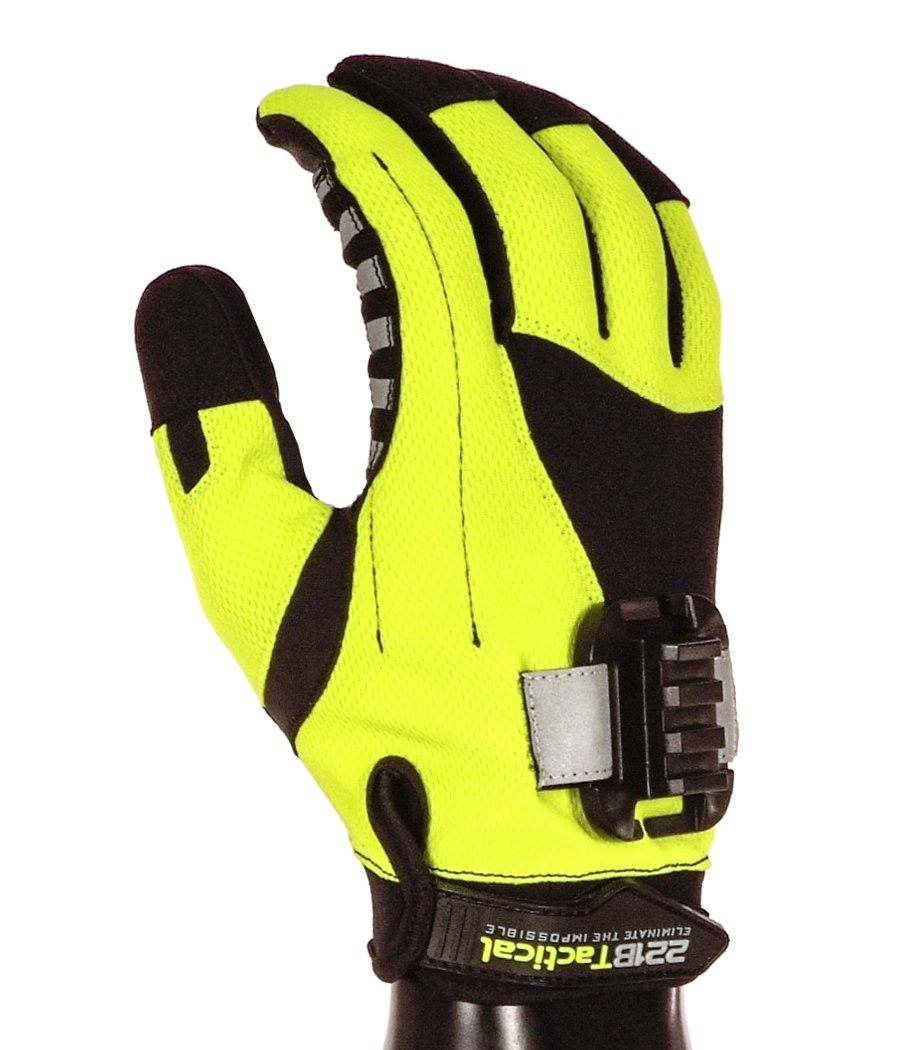 Exxtremity Patrol Gloves 2.0 with Rail Clip (No Light) Gloves 221B Tactical Hi-Vis Yellow XS