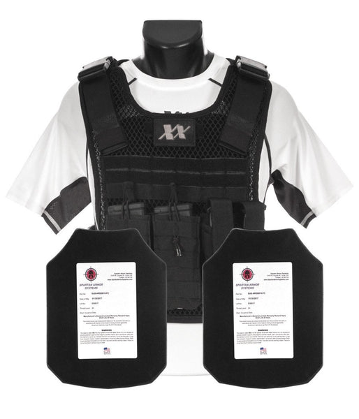 Phantom Plate Carrier with (2) AR550 STEEL 8X10 SHOOTERS CUT PLATES