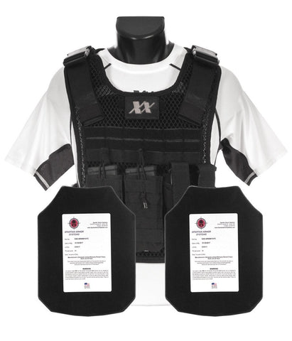 Phantom Plate Carrier with (2) Level III+ AR550 Steel Shooters Cut Plates
