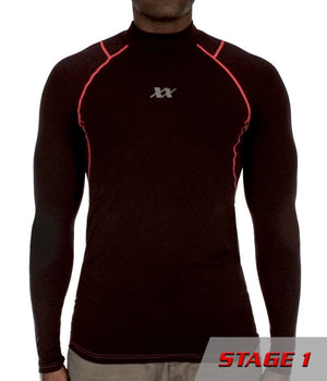 Equinoxx Stage 1 - Compression Mock Apparel 221B Tactical S Red-line 1-pack