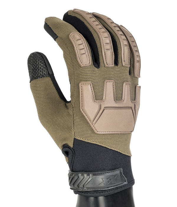 Gladiator Gloves - Full Dexterity Tactical Gloves - Level 5 cut resistant - Shooting and Search Gloves 221B Tactical Desert Tan XS