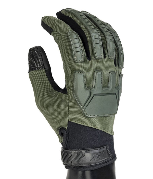 Gladiator Gloves - Full Dexterity Tactical Gloves - Level 5 cut resistant - Shooting and Search Gloves 221B Tactical OD Green XS