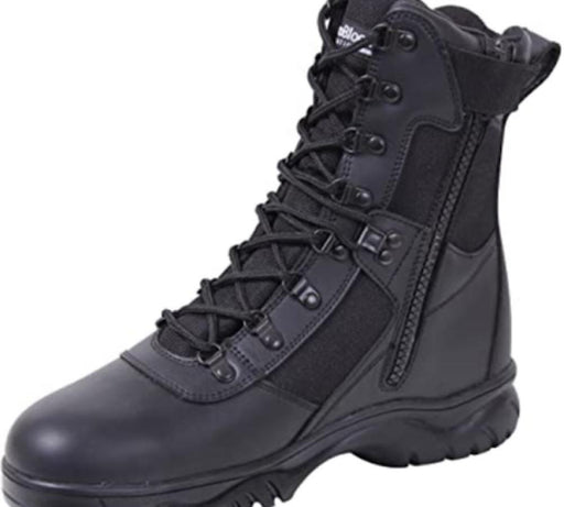 Insulated 8 Inch Side Zip Tactical Boot Apparel Rothco