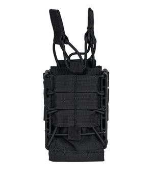 Rapid Access Double AR .223/5.56 & 7.62 Open Top Molle Mag Pouch 221B Tactical