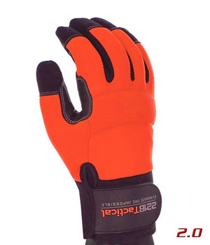 Reflective Equinoxx Gloves 2.0 - Thermal, Water & Wind Resistant Gloves 221B Tactical Hi-Vis Orange XS