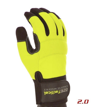 Reflective Equinoxx Gloves 2.0 - Thermal, Water & Wind Resistant Gloves 221B Tactical Hi-Vis Yellow XS