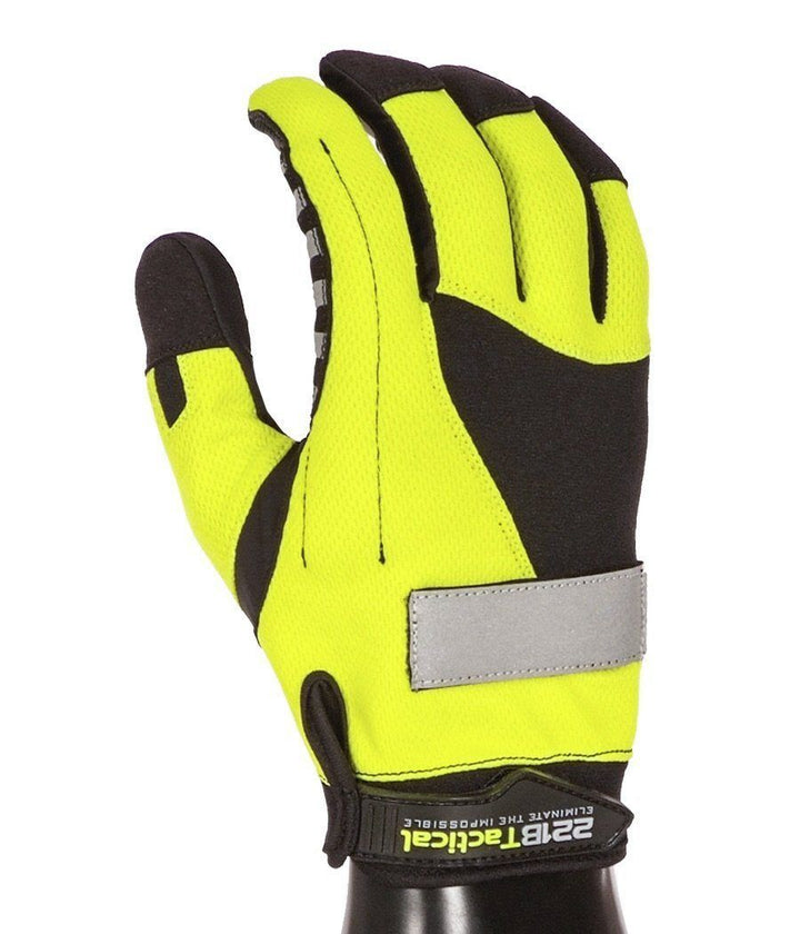 Reflective Exxtremity Patrol Gloves 2.0 Gloves 221B Tactical XS Hi-Vis Yellow