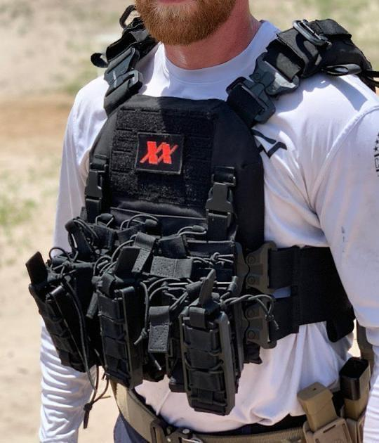 Shadow Plate Carrier with (2) Level IV Rifle Ceramic Body Armor Plates Maxx-Dri Carrier 221B Resources LLC