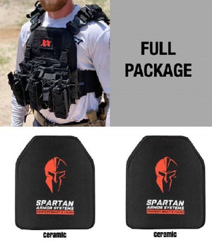 Shadow Plate Carrier with (2) Level IV Shooter's Cut Multi Hit Shooter Cut Rifle Ceramic Body Armor Plates Maxx-Dri Carrier 221B Resources LLC