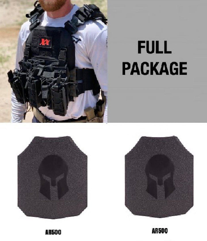 Shadow Plate Carrier with (2) Spartan Level III Omega AR500 Body Armor Maxx-Dri Carrier 221B Resources LLC