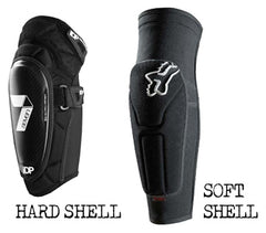 Compare Hard and Soft Shell Elbow Pads