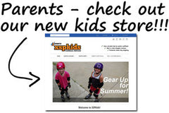 Check out our new parents store for skateboard pads for kids!