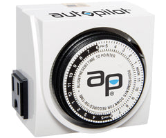 AP Dual-Outlet Analog Timer, 1875W, 15A, 15Mins On/Off, 24Hr