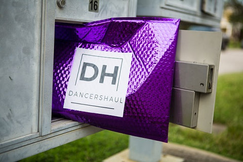 Dancers Haul Purple Package