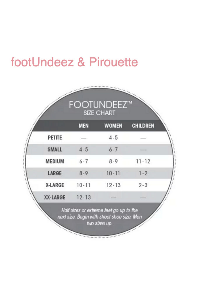 FootUndeez Sizing Chart
