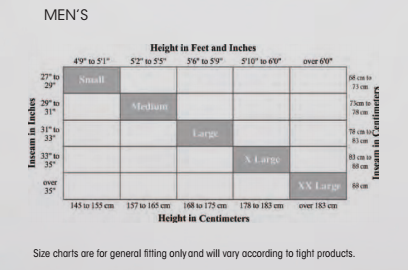 Capezio Tights Sizing Chart 4