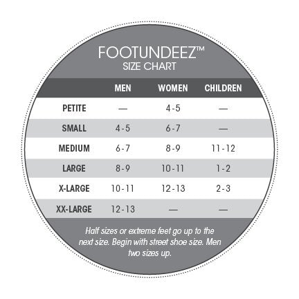 Capezio Foot Undies Sizing Chart