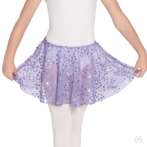 Eurotard 05283 Enchanted Dreams Sequin Mesh Pull On Skirt - Child