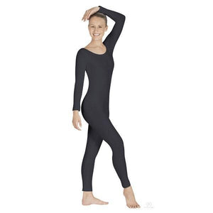 Adult Long Sleeve Unitard Black