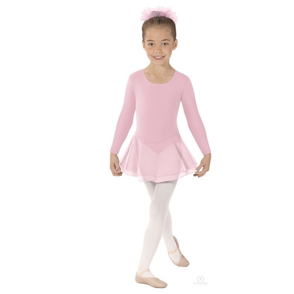 Eurotard 10465 Long Sleeve Leotard with Double Layer Skirt - Child