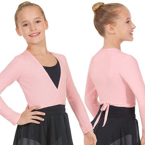 Eurotard 10523C Long Sleeve Cotton Lycra® Ballet Wrap Sweater - Child