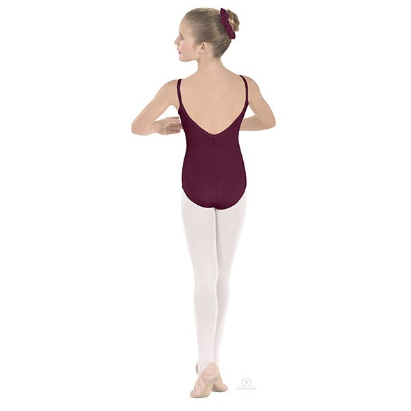 Eurotard 10527C Pinch-Front Camisole Leotard - Child burgandy