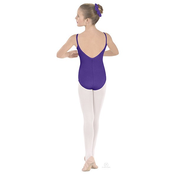 Eurotard 10527C Pinch-Front Camisole Leotard - Child purple