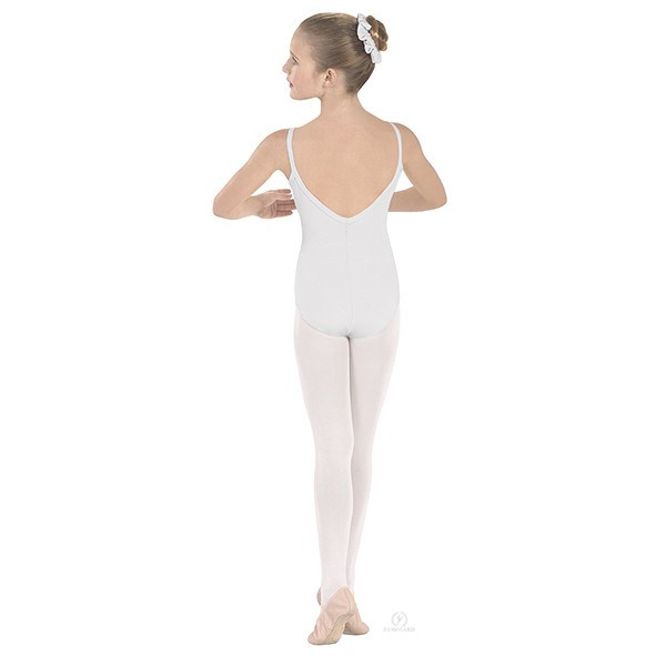 Eurotard 10527C Pinch-Front Camisole Leotard - Child- white