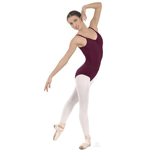 Pinch-Front Camisole Leotard Dark Red