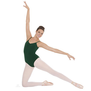 Pinch-Front Camisole Leotard Green