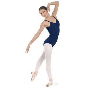 Pinch-Front Camisole Leotard Dark Blue
