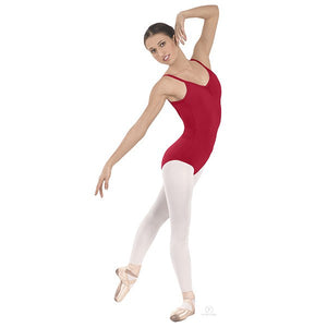 Pinch-Front Camisole Leotard Red