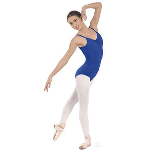 Pinch-Front Camisole Leotard Blue