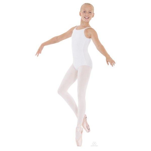 Eurotard 10527C Pinch-Front Camisole Leotard - Child-white front