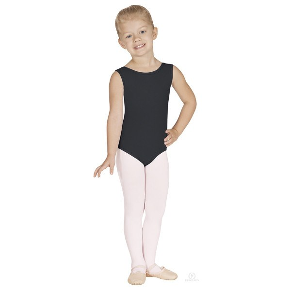 Eurotard 1089 Cotton Tank Leotard - Child black