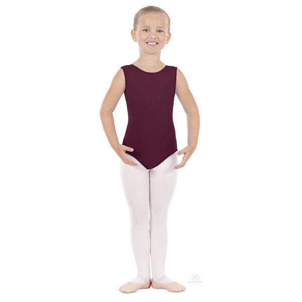 Eurotard 1089 Cotton Tank Leotard - Child burgandy