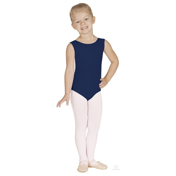 Eurotard 1089 Cotton Tank Leotard - Child navy