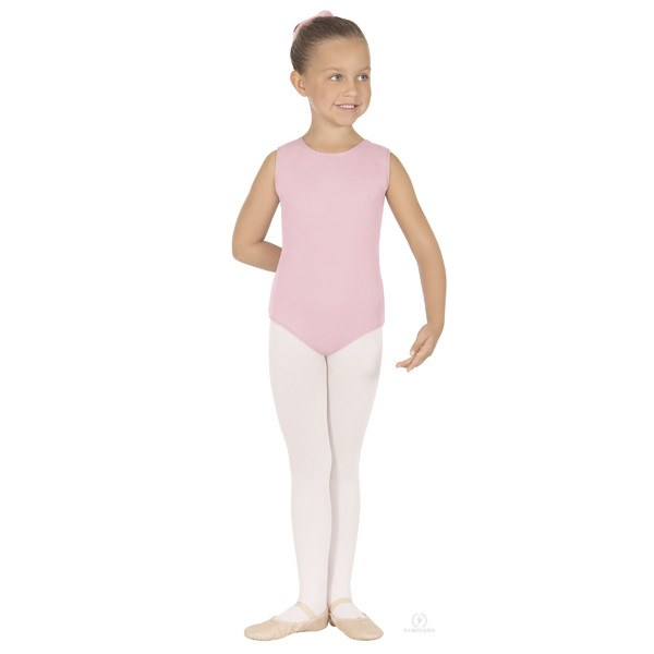 Eurotard 1089 Cotton Tank Leotard - Child pink