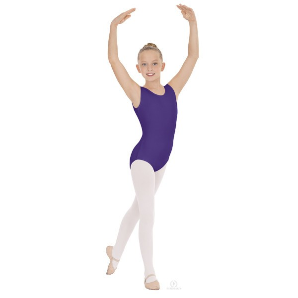 Eurotard 1089 Cotton Tank Leotard - Child purple