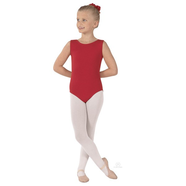 Eurotard 1089 Cotton Tank Leotard - Child red