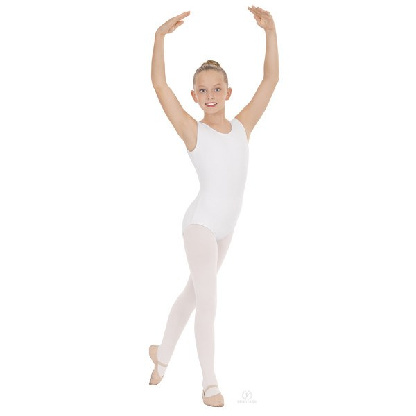 Eurotard 1089 Cotton Tank Leotard - Child white