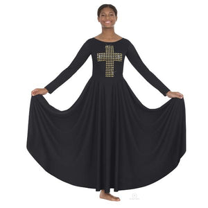 Eurotard 11028 Adult Gold Cross of Truth Praise Dress