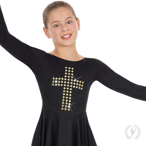 Child Gold Cross Dress