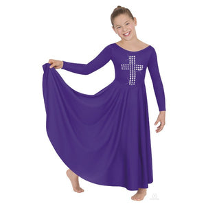 Eurotard 11029 Silver Cross Dress child purple