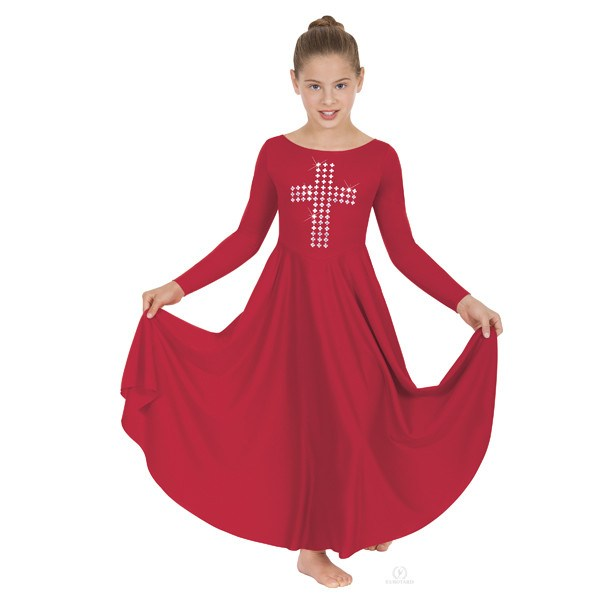Eurotard 11029 Silver Cross Dress red