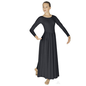Eurotard 13524 Polyester Dance Dress - Adult black